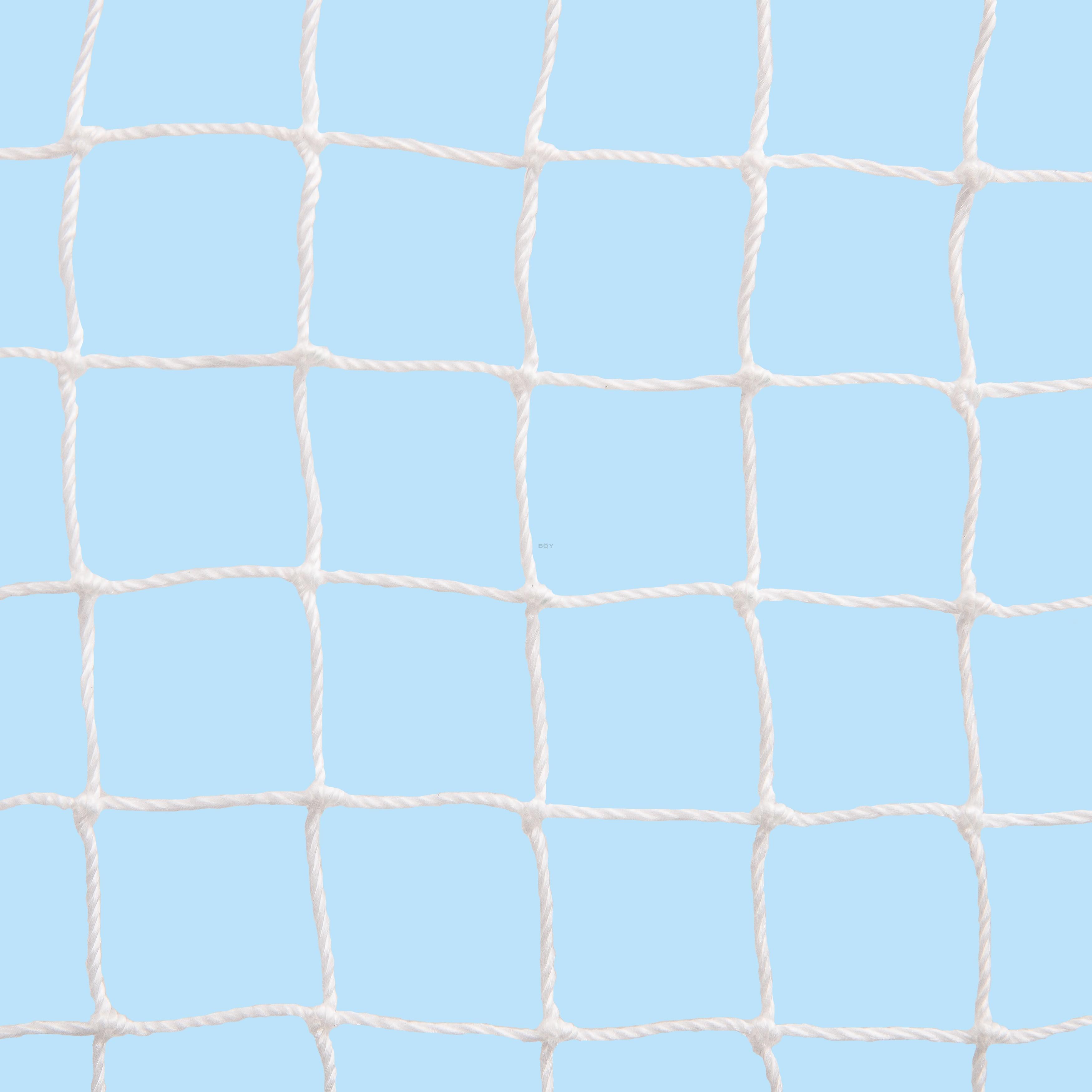 Balcony Cat Net in 20mm mesh, 1.2mm yarn Ø, olive green & white