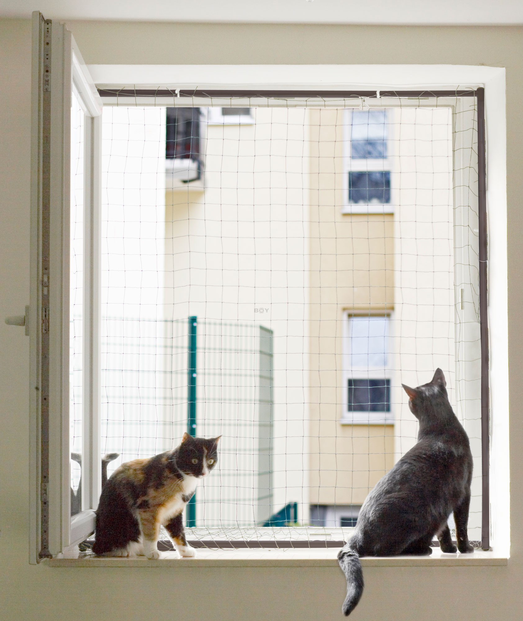 Cat Protection Window Net Frame
