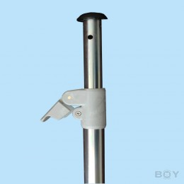Telescopic rod for clamping up to 350cm, Ø 28mm - silver-colored galvanized