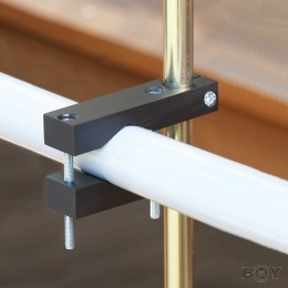 Pole mounting for round handrails with a diameter of 30 - 60mm
