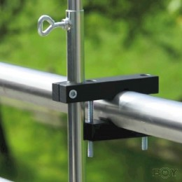 Pole mounting for round handrails