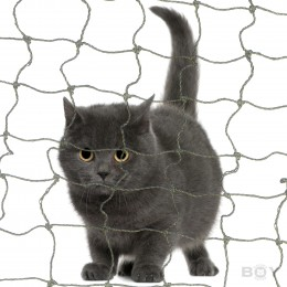 Boy Cat Nets in 50mm mesh - with stainless steel wire reinforcement