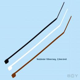 Net Ties - 100mm long - 100 pcs - black & white