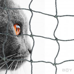 Cat Protection Net in 30mm mesh, yarn 1.0mm Ø - black