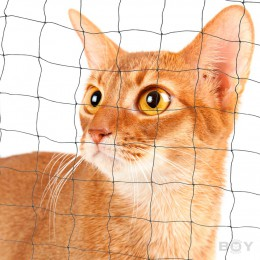 Cat Protection Net in 40mm mesh, yarn 1.0mm Ø  - black